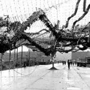 Camouflage nets at the Nibelungenwerk