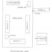 Skizze von Solomon Salat vom KZ St. Valentin