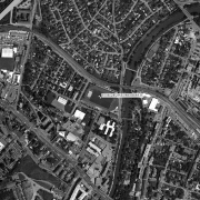 Überblick 1:5.000 mit GPS-Daten, 1=Phönix-Sportplatz