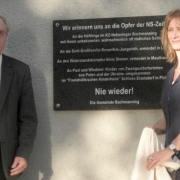 Inauguration of the memorial plaque at the municipal office