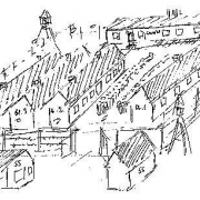 Sketch of the concentration camp Schlier-Redl-Zipf (ertsellt 1965)