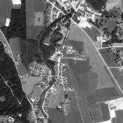 Übersicht 1:5.000 mit GPS-Daten; 1: Denkmal