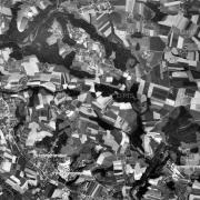 """Überblick 1:10.000 mit GPS-Daten; 1: Stolleneingänge """"bergkristall"""" 2: ehem. Lagergelände Gusen II 3: ehem. Lagergelände Gusen I"""