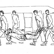 KZ Gusen I: Zeichnung 1 von Lodovico Barbiano di Belgiojoso