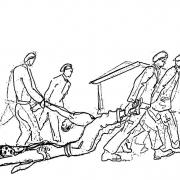 KZ Gusen I: Zeichnung 2 von Lodovico Barbiano di Belgiojoso