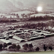 Remote view of the concentration camp
