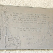 Memorial plaque at the dam wall