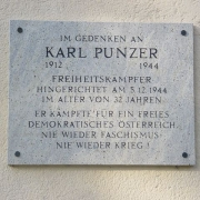 Memorial plaque for the resistance fighter Karl Punzer, Karl-Punzer-Hauptschule