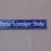 Street name after the Gestapo victim, the nurse Herta Schweiger