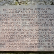 Commemorative plaque - Memorial Ebensee
