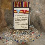 Gedenkstelle in der Stollenanlage