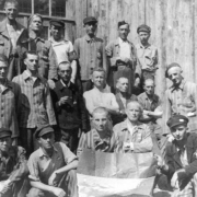 Ebensee concentration camp: liberated Luxembourgers, May 1945