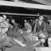 KZ Linz III: Überlebende im Revier, 7. Mai 1945