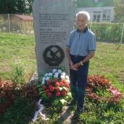 KZ-Überlebender Ed Mosberg beim Gedenken
