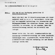 Facsimile: Transfer letter from the concentration camps Mittersill and Lannach