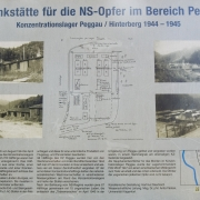 Information board at the site of the former KZ-Peggau