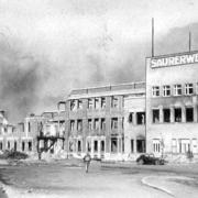 KZ-Saurerwerke: View of the factory, May 1945