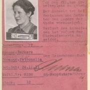Berkers Katharina Lagerausweis Ravensbrück