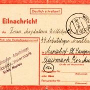 postcard 1944, concentration camp St. Lambrecht