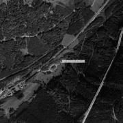 Überblick 1:5.000 mit GPS-Daten, 1=ehem. Lagergelände
