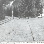 Track system (right) to the concentration camp on the Feistawiese