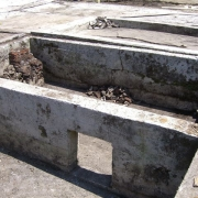Foundations of the wash barrack