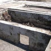 Fundamente der Waschbaracke