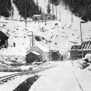 Tunnelbaustelle im Winter