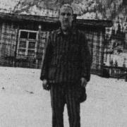 Louis Balsan, hinten Sanitätsbaracke 1944-45