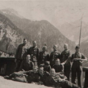 SS men in the background Koschuta Mountains