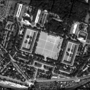 Satellite photo: detail view of the former camp site