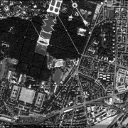 Satellite photo: former camp site with GPS data