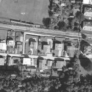 Katasterplan 1:1.000, ehem. Lagergelände; großteils die Grundstücke südlich der Bahnlinie
