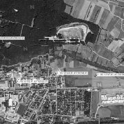 Overview 1:10,000 with GPS data; 1: Former camp site 2: Cemetery 3: Plant at Lindenberg 4: Talwerk