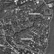 Überblick mit GPS-Daten 1:5.000; 1: Memorial neben Johannesstraße, 2: Seegrotte