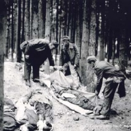 Bodies of prisoners, May 1945