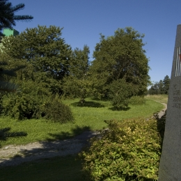 Memorial stone next to the former concentration camp Gusen III