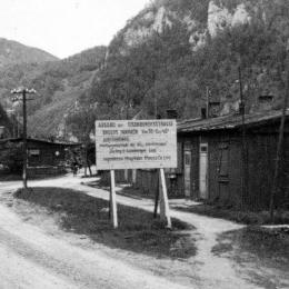 Foto des ehem. KZ-Dipoldsau von der Gedenkstätte