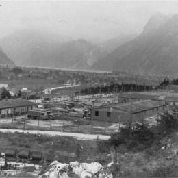 Ansicht KZ-Ebensee Lager, Mai 1945