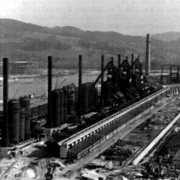 KZ Linz I+III Ironworks Linz under construction 1942