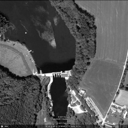 Detailed view of Oberilzmühle, dam / former storage area probably southeast of it